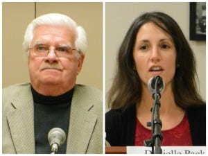 The two candidates: Thomas Robertson and Danielle Pack-McCarthy