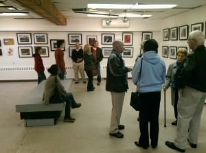 A working space transformed into an art gallery at Arts on the Lake (photo provided)