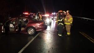 Firefightersrespondtonumeroustrafficaccidents