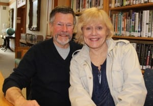 "Joe Carlisle and Nancy Larsen, married offstage and on, star in ""On Golden Pond."" (Photo by A. Rooney)"