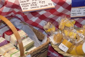 Locally made baskets filled with foods and other New York State products are becoming a popular gift item.