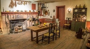 The reconstructed 1808 kitchen at Boscobel