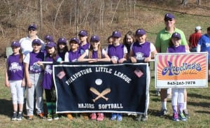 The Philipstown major softball team