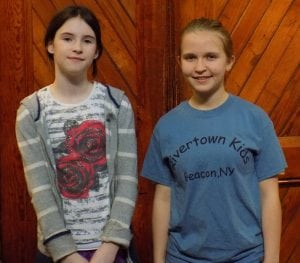 Current Rivertown Kids members Aine Gunn, left, and Molly Robinson (Photo by Markie Baylash)