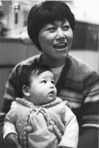 Hiroko Merante with her son Peter in 1970