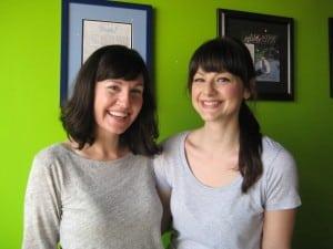 KristenCronin,left,andTaraTornello,attheForGoodnessBakesaleheldMay2014inBeacon (file photo)