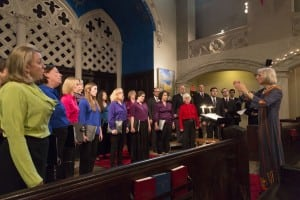 Photo:  NEW Clara Longstreth conducts members of the New Amsterdam Singers.