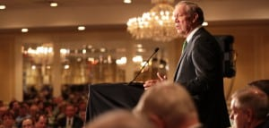 Pataki announces his candidacy in Exeter, New Hampshire (campaign photo)