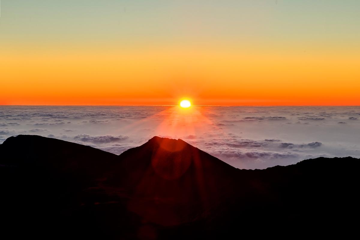 Red Circle Phil Haber Sunrise at Mt. Kaleakala