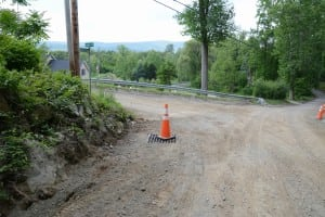 Drainage work would begin near the intersection of South Mountain Pass and Manitou Road, just above Route 9D, seen in the center distance.