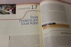 'SocialProblemsandSocialAction,'showninthistextbook,areatthecoreofHaldane'ssociologyclass.