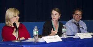 Haldane candidates Margaret Parr, Koren (Kory) Riesterer and Evan Schwartz.