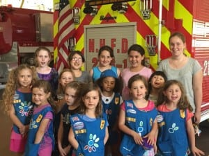 Girl Scouts visit the North Highlands Firehouse (Photo provided)