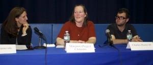 Haldane candidates Sarah Carnevale, Margaret (Peggy) Clements and Charles Hustis III.