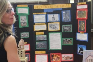 Biographical subjects were ever-popular in the high school history projects. This project on Alexander the Great joined others on Che Guevara, Gandhi, Wilma Mankiller, Henry Ford and more.