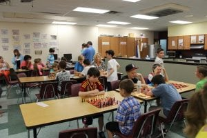 The 'chess room' was filled with players throughout Discovery Night.