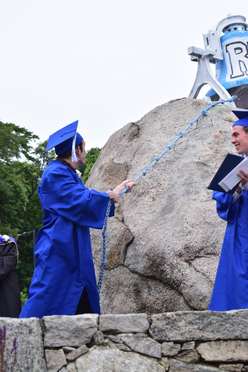 Each grad rang the the bell