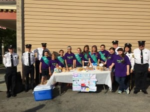 Girl Scouts honor Philipstown's first responders with a breakfast before the Memorial Day Parade. Photo provided