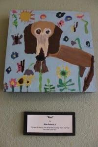 "ElisaPahucki,age7,painted ""Red""andnoted,'MywishforRedisthathefindsalovinghomeandthatheiswellcaredfor.'"