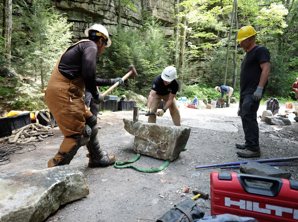 Jolly Rovers StoneSplitting1-Minnewaska State Park NY