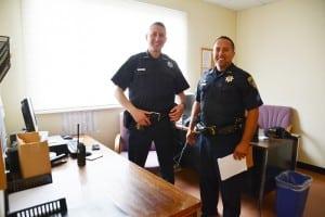 DeputyBrianAisenstat,left,worksatthesubstation,whichSgt.MikeSzabo,oversees.
