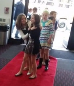 Haldane fourth-graders walk down the red carpet at the Jacob Burns Film Center, where their films premiered on June 3.