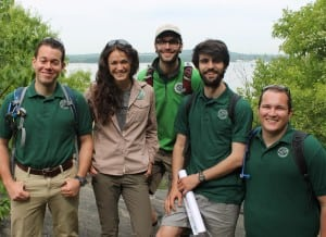 The 2015 Breakneck Ridge Trail Stewards, wearing gear donated by Mountain Tops Outfitters, Beacon