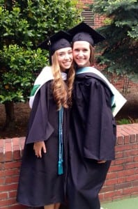 Erin Percacciolo, right, at her graduation from Manhattan College (Photo provided)