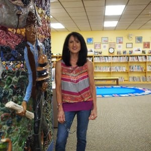 Howland Library's youth services librarian, Ginny Figlia