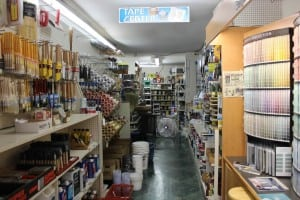 The paint and supply aisle