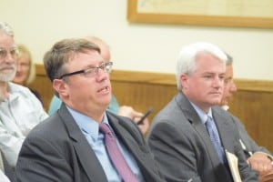 Furst's first: John Furst, Cold Spring's new legal counsel, attended his first Village Board meeting on Tuesday, July 13. Joseph McKay, a partner with the same firm, is seated to his right.