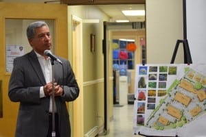 Developer Paul Guillaro outlined the construction schedule for Butterfield.