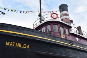 The tugboat Mathilda is on permanent display at HRMM. (Photo by M. Turton)