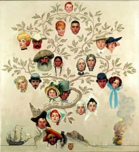 """Family Tree"" by Norman Rockwell"
