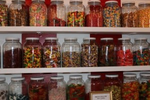 Jars and jars of sweet stuff at Cold Spring Candy Co., located in Cold Spring Emporium