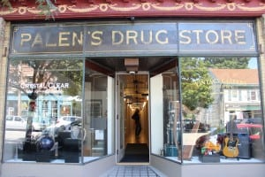Surviving intact through its latest incarnation: the original sign from Palen's Drug Store