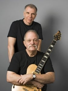 John Abercrombie, seated, and Marc Copland