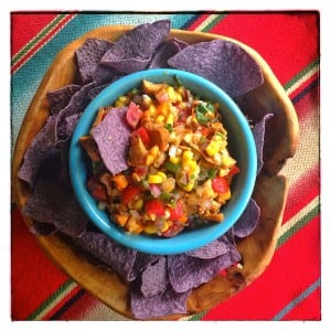 Corn Chanterelle Salsa