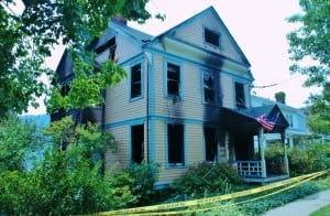 The Impellizzeri house after the fire (file photo)