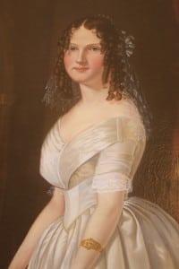 PortraitofateenagedJuliaL.Safford,paintedjustbeforeshemarriedFrederickJames;artistunknown; photobyM.Turton