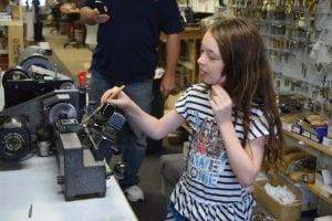 Ori Brachfeld's 9-year-old daughter Eddye sometimes helps out at Dash Lock & Key in Beacon.