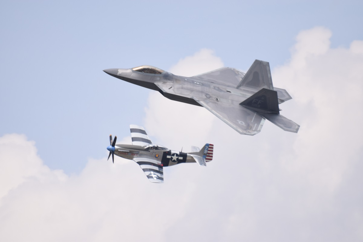 F-22 and P-51