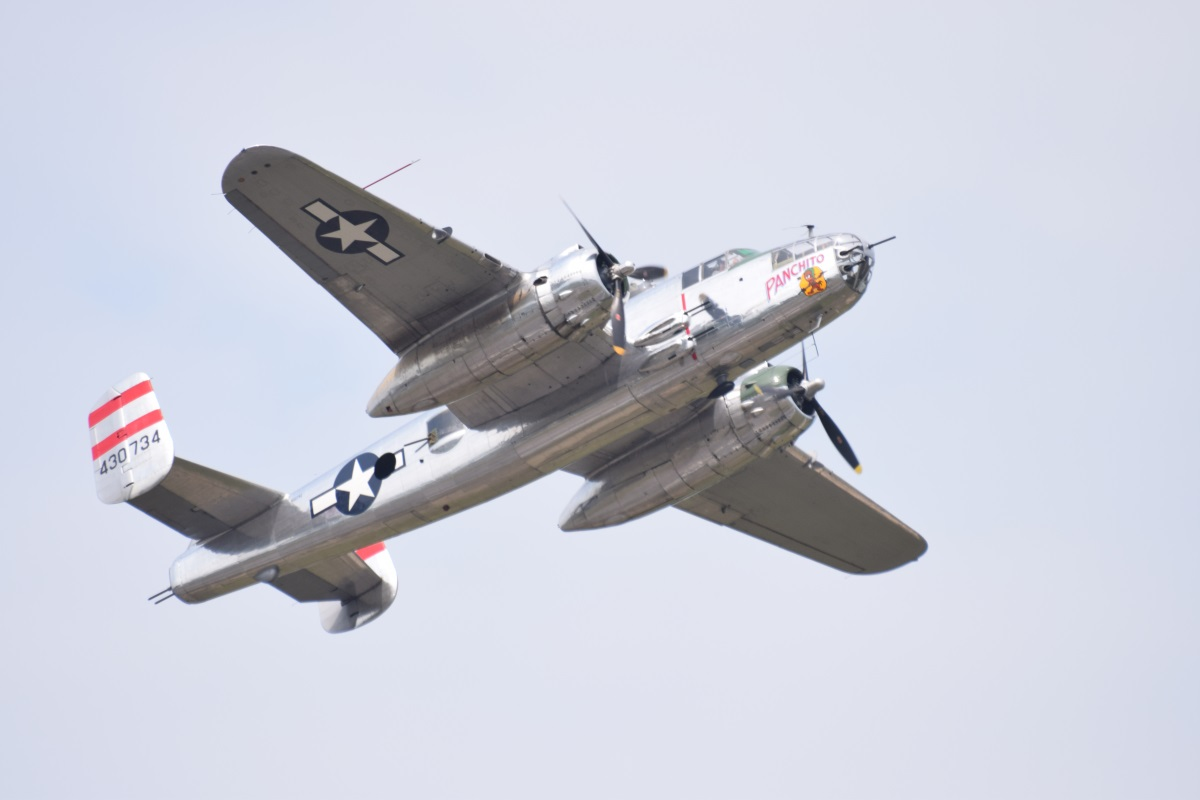 b-25 in flight