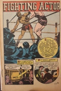 """Acomicstripfromthe1930sdepicting""""FightingActor""""CanadaLee"""