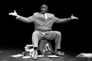 Tayo Aluko portraying Paul Robeson (photo provided)