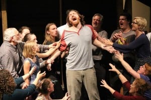 "Asher Pacht as Jesus during a rehearsal for ""Jesus Christ Superstar"" (photo provided)"