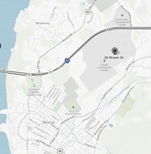 TheFishkillCorrectionalFacilityislocatednortheastofcitycenter.(Mapquest)