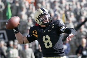 Trent Steelman in 2012, while playing quarterback for West Point. (Photo by Tommy Gilligan / USMA)