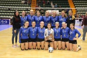 Lady Blue Devils with coach Ashley Anderson (Photo by Sharon DiPalo)