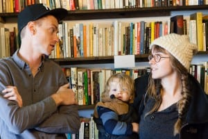 CoreyEastwoodandKateRyan,twoofBinnacle'sthreeowners,withRyan'sson,Garland.(PhotobyMichaelBerlin)